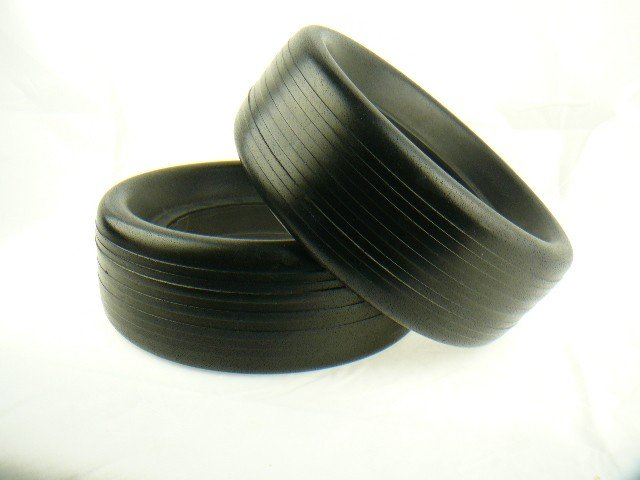 Pair of Tyres for Domed Wheel to fit  Powakaddy, Golf Glider, Fraser, for worn or damaged trolleys wheels