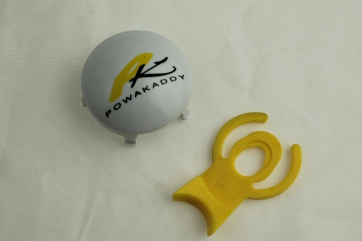 Yellow wheel Quick release tab for all for Powakaddy trolleys