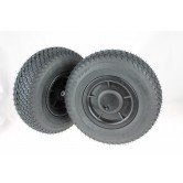 Pair of Pneumatic air Wheels for Powakaddy with Quick release, turf Friendly